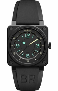 Bell & Ross Aviation Instruments Black Dial Men's Watch BR0392-IDC-CE/SRB