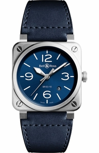 Bell & Ross Aviation Instruments Blue Steel Men's Watch BR0392-BLU-ST/SCA