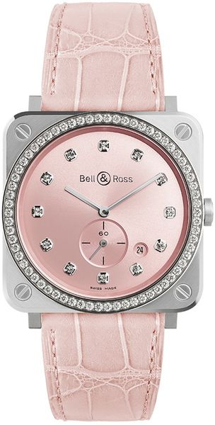 Bell & Ross Instruments Pink Dial Women's Watch BRS-PK-ST-LGD/SCR