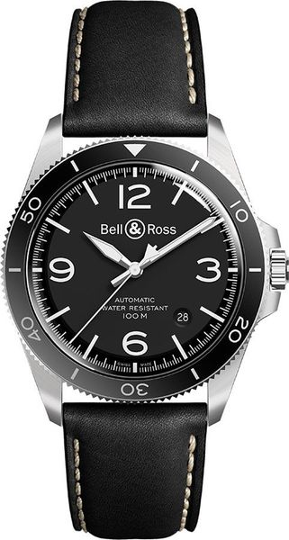 Bell & Ross Vintage Black Steel Men's Watch BRV292-BL-ST/SCA