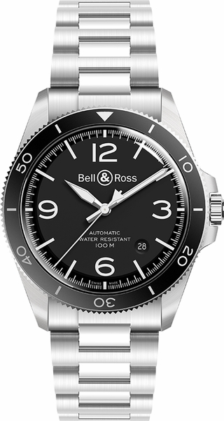 Bell & Ross Vintage 41mm Black Dial Men's Watch BRV292-BL-ST/SST