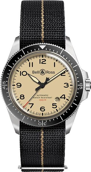 Bell & Ross Vintage Military Beige Men's Watch BRV292-BEI-ST/SF