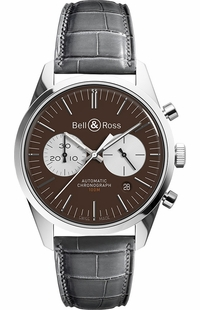 Bell & Ross Vintage Officer Limited out of 500 Men's Watch BRG126-BRN-ST/SCR2
