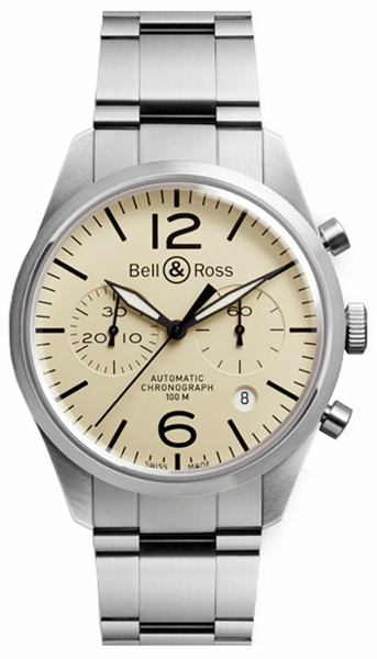 Bell & Ross Vintage Original Men's Watch BRV126-BEI-ST/SST