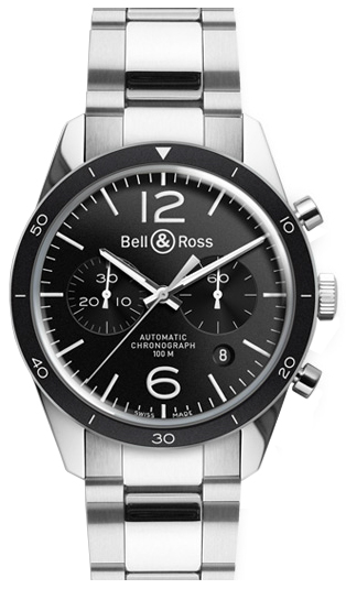 Bell & Ross Vintage Original Stainless Steel Men's Watch BRV126-BL-BE/SST