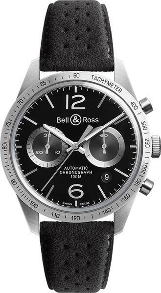 Bell & Ross Vintage Original New Chronograph Men's Watch BRV126-BS-ST/SF