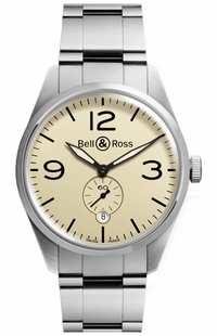 Bell & Ross Vintage Original Stainless Steel Men's Watch BRV123-BEI-ST/SST
