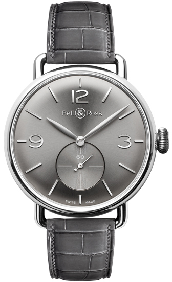 Bell & Ross Vintage Men's Luxury Watch WW1 BRWW1-ME-AG-RU/SCR