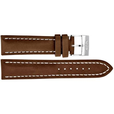 Breitling 21/18 Brown Leather Strap 495X
