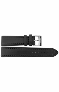 Breitling 22mm Inlet Black Leather OEM Watch Strap 480X
