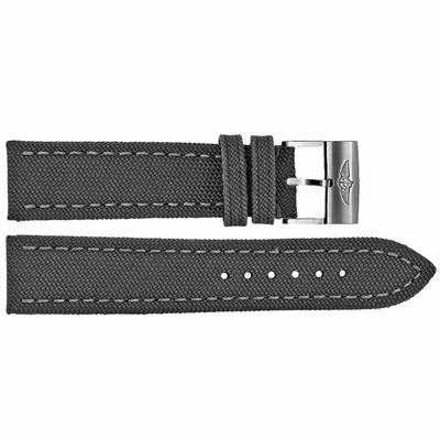Breitling 24mm Anthracite Canvas Strap 100W