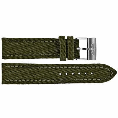 Breitling 24mm Military Green Canvas Strap 105W