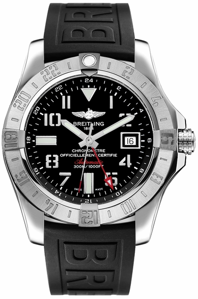 Breitling Avenger II GMT Black Dial Men's Watch A3239011/BC34-153S
