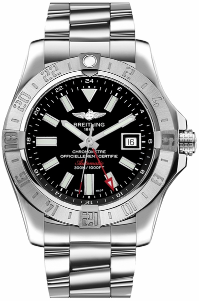 Breitling Avenger II GMT Black Dial Men's Watch A32390111B1A1