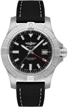 Breitling Avenger Automatic GMT 43 Black Dial Men's Watch A32397101B1X1