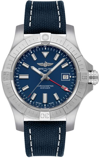 Breitling Avenger Automatic GMT 45 Blue Dial Men's Watch A32395101C1X1
