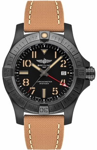 Breitling Avenger Automatic GMT 45 Black Titanium Men's Watch V32395101B1X1