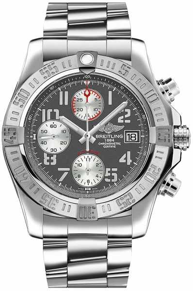 Breitling Avenger II Chronograph Grey Dial Men's Watch A1338111/F564-170A