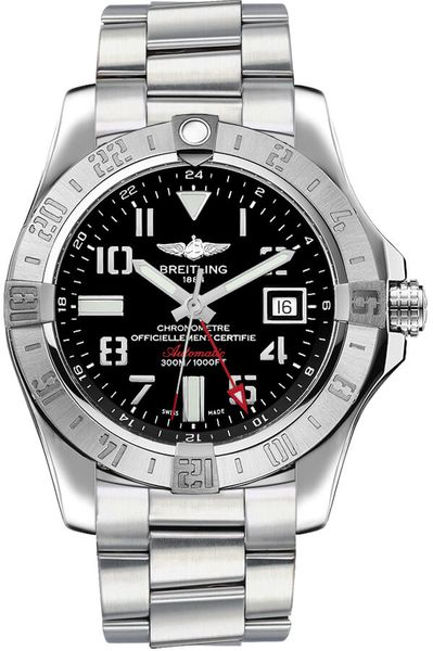 Breitling Avenger II GMT Black Dial Men's Watch A3239011/BC34-173A