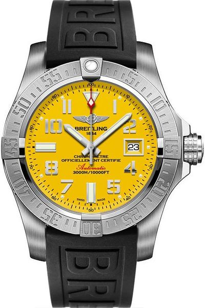 Breitling Avenger II Seawolf Yellow Dial Men's Watch A17331101I1S2