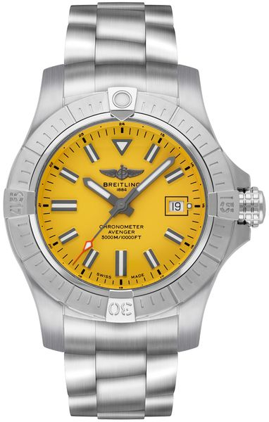 Breitling Avenger Seawolf Yellow Dial Men's Watch A17319101I1A1