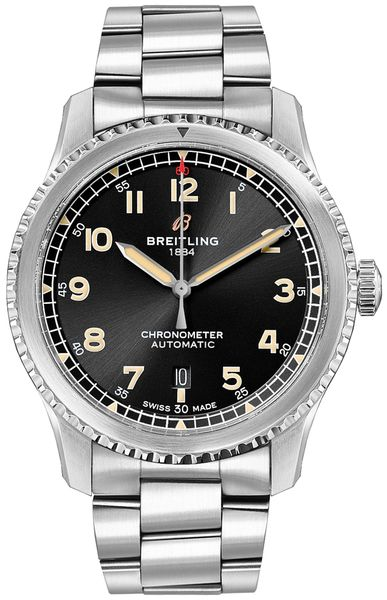 Breitling Aviator 8 Automatic 41 Black Dial Men's Watch A17315101B1A1
