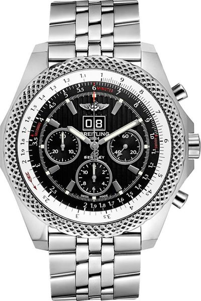 Breitling Bentley 6.75 Black Dial Men's Watch A4436412/BE17-990A