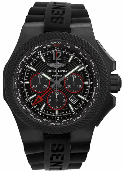 Breitling Bentley GMT Light Body Black Titanium 49mm Men's Watch VB0432221B1S1