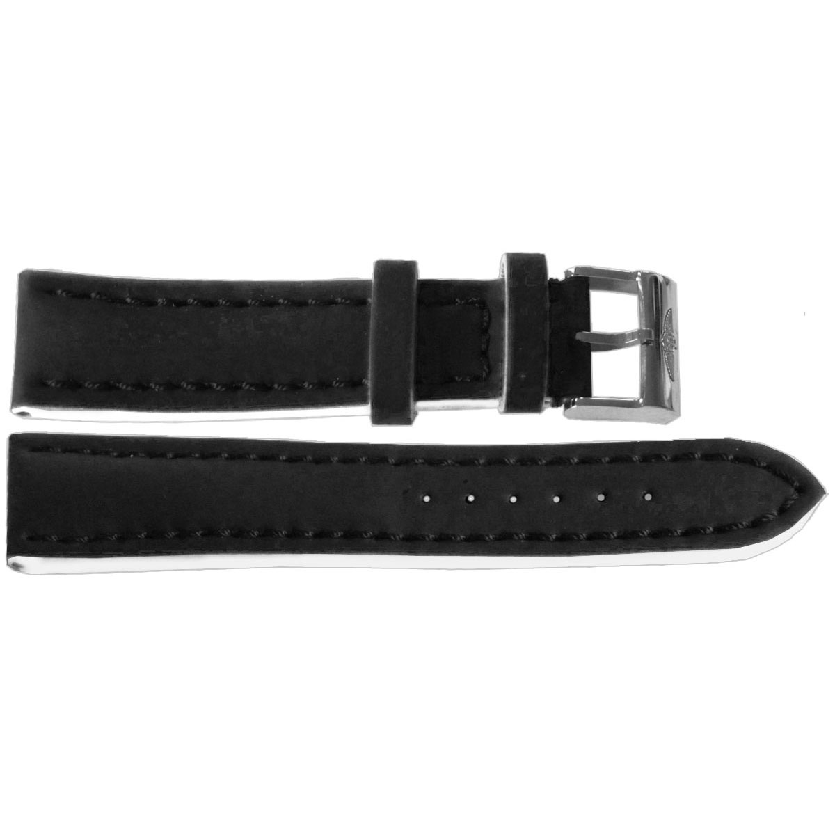 20 18 genuine breitling black leather strap with tang buckle 222x