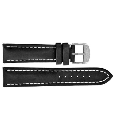 Breitling 21mm Inlet Black Leather OEM Watch Strap 493X