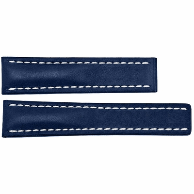 Breitling 18mm Blue Leather Strap 199X