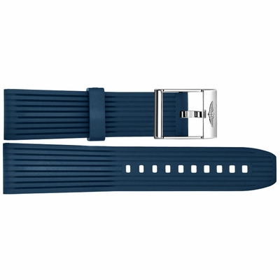 Breitling 24mm Blue Rubber Strap 269S