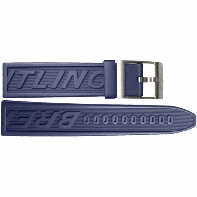 Breitling 22mm Blue Rubber Strap 121S
