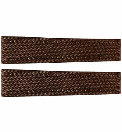 Breitling 22mm Brown Canvas Strap 108W