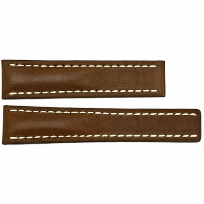 Breitling 22mm Brown Leather Strap 434X / 438X