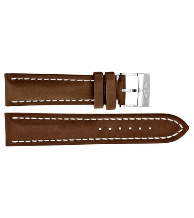 Breitling 22mm Brown Leather Strap 437X