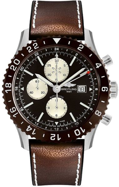 Breitling Chronoliner Bronze Dial Men's Watch Y2431033/Q621-295S