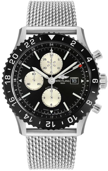 Breitling Chronoliner Black Dial Men's Watch Y2431012/BE10-152A