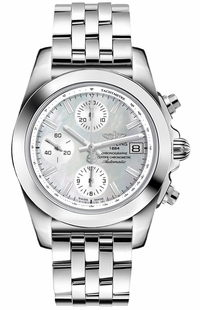Breitling Chronomat 38 Pearl White Dial Women's Watch W1331012/A774-385A