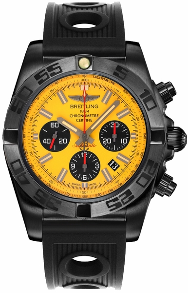 Breitling Chronomat 44 Blacksteel Chronograph Men's Watch MB0111C3/I531-200S