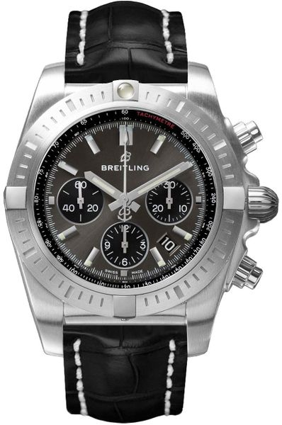 Breitling Chronomat Chronograph Grey Dial Men's Watch AB0115101F1P2