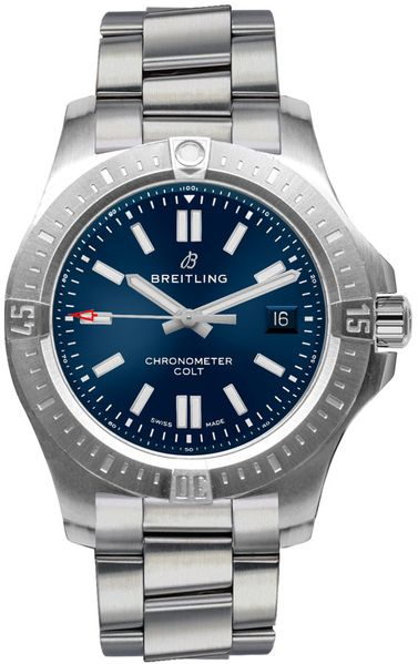 Breitling Chronomat Colt 41 Blue Men's Watch A17313101C1A1