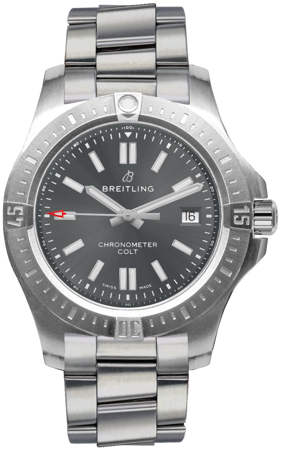 A17313101f1a1 breitling chronomat colt steel pilot men 39 s watch for Breitling automatic