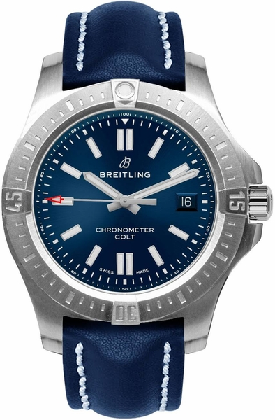 Breitling Chronomat Colt Automatic 44 Men's Blue Dial Watch A17388101C1X1