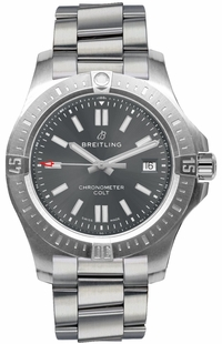 Breitling Chronomat Colt Automatic Grey Dial Men's Watch 41 A17313101F1A1