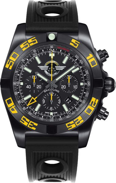 Breitling Chronomat GMT Onyx Black Men's Watch MB04108P/BD76-201S