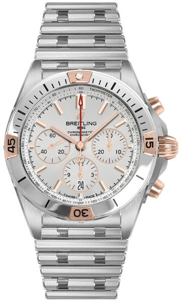Breitling Chronomat B01 42 Steel & Rose Gold Men's Watch IB0134101G1A1