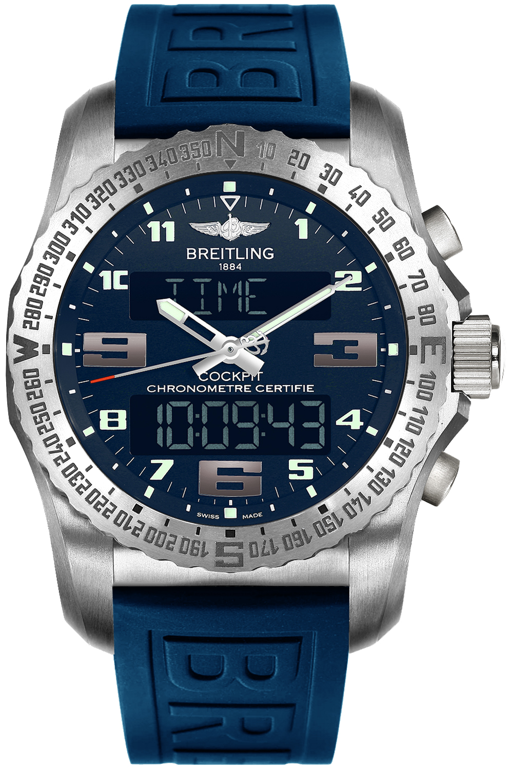 breitling cockpit b50 eb501019  c904-160s mens quartz gmt watch