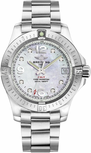 Breitling Colt 36 Mother of Pearl Diamond Dial A74389111A1A1