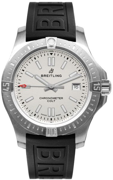 Breitling Colt 41 Automatic Silver Dial Steel Men's Watch A17313101G1S1